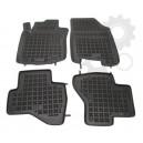 Grīdas paklāji (gumijas, 4gab., melns) CITROEN C1 PEUGEOT 107  TOYOTA AYGO 06.05-