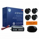 M-TECH Parkošanās sensori (komplekts 4.gab.) melns. Ar skaņas signālu (bez displeja)