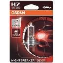OSRAM H7 55W NIGHT BREAKER® SILVER +100% 12V Blister 1gab.