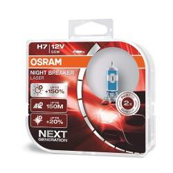 OSRAM H7 (Kompl. 2gab.) 12V 55W PX26D Night Breaker Laser