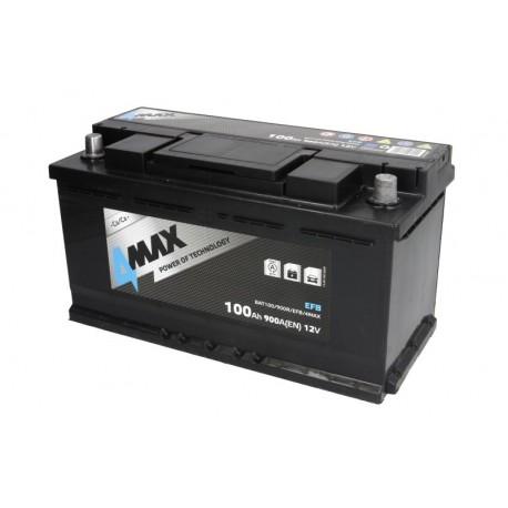 Akumulators 100Ah/900A EFB (Labais+ Standarta) 353x175x190
