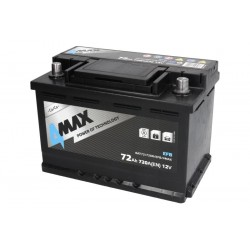 Akumulators 72Ah/720A EFB (Labais+ Standarta) 278x175x190