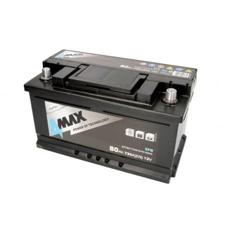 Akumulators 80Ah/730A EFB (Labais+ Standarta) 315x175x175