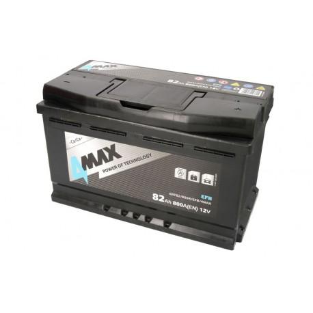 Akumulators 82Ah/800A EFB (Labais+ Standarta) 315x175x190