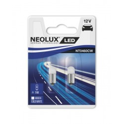 NEOLUX Spuldze LED T4W (2 gab., 12 V, 0,5 W, balta)