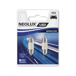 NEOLUX Spuldze, C5W, 12V, 0,5W, 6000K, patronas tips SV8.5-8 31mm, gaismas krāsa Balts