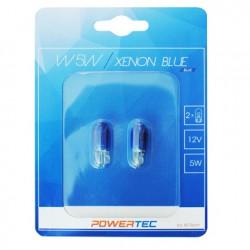 Spuldze W5W XENON BLUE (Blisters 2gab.) 12V 5W W1,2X9,5D Powertec