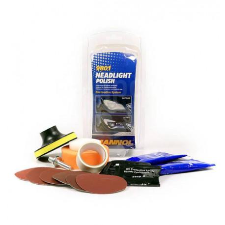 Auto lukturu pulēšanas līdzekļis Mannol Headlight Polish Restoration System