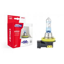 H11 SPULDZES LumiTec LIMITED +130% 12V 55W KOMPLEKTS 2 GAB